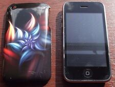"""DARK Fiori"" in Silicone Case Cover per iPhone 3/3g/3gs telefoni cellulari #3"