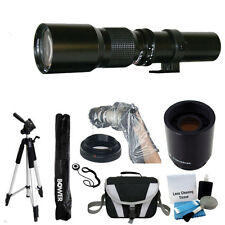Rokinon 500mm 1000mm Telephoto Lens For Canon T5 T5i  T6 T6i 70D 80D 5D Full Kit