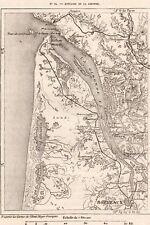 IMAGE 1887 PRINT CARTE MAP ESTUAIRE DE LA GIRONDE ROYAN BORDEAUX BLAYE