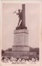 Durham postcard - JACK CRAWFORD MONUMENT, MOWBRAY PARK, SUNDERLAND early 1900's