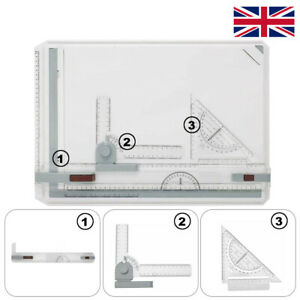 1x A3 Drawing Board Table Set Technical Table Drafting Adjustable Angle