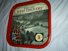 More details for rare vintage advertising tin tray west country beers chelt & cotswold ale 1960's
