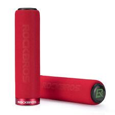 RockBros Bike Cycling Single Lock Sponge Bicycle Handlebar Grips 22.2mm Red