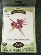 SIZZIX 13 THINLITS DIES CROCUS FLOWER SUSANS GARDEN LEAF LIKE SHEENA FLORALS NEW