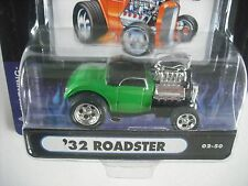 MUSCLE MACHINES 1/64 1932 32 FORD ROADSTER GREEN 02-50 MOC