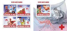 NIG13612ab Niger 2013 Malaria MNH SET **