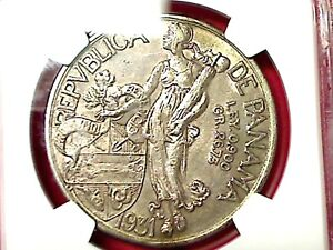 EX RARE 1931 SILVER ONE BALBOA NGC CERTIFY 50 AUNC.4231819-013