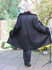 WOMENS 3XL Shearling Lambskin Sheepskin Lamb Coat Jacket Ladies IR4252