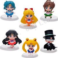 6Pcs/Set Anime Cartoon Sailor Moon 5 cm/2 inch PVC Complete Figure Lot Toys