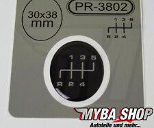 1x Schalthebel Silikon Aufkleber für Schaltknauf 3D Sticker | 30x38mm | PR-3802