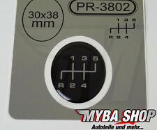 "1x palanca pegatinas ∅= 30mm x 38mm emblemas para palanca de cambio 3d sticker nuevo"""