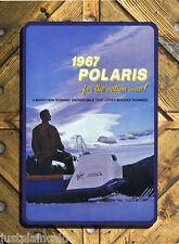 Polaris snowmobile 1967 vintage brochure style metal wall sign