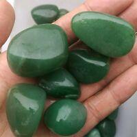 100g Bulk Natural Green Jade Gemstone Tumbled Stones Mineral Specimen Healing