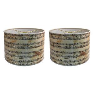 Royal Designs Decorative Lamp Shade - Made in USA - Musical Notes Design