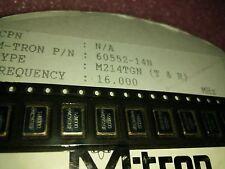 2x M-TRON 60552-14N 16.000MHZ , 16.000MHZ Crystal OSCILATOR 50PPM  SMD 5x7mm