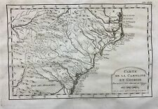 1773 Bellin Krevelt - Map of the CAROLINAS and GEORGIA United States