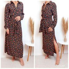 ZARA NEW LONG SHIRT FLORAL DRESS SIZE M