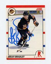 BRIAN BRADLEY CANUCKS AUTOGRAPH AUTO 90-91 SCORE CANADIAN #198 *56520