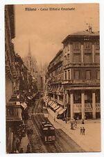 CARTOLINA 1919 MILANO CORSO VITTORIO EMANUELE RIF 5510