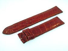 BREITLING MONTBRILLANT BAND 20MM CROCO BRAUN BROWN STRAP FOR DORNSCHLIESSE 20-01