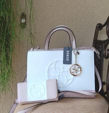 NWT Beautiful GUESS KORRY Status Satchel Handbag + Wallet Set Color Pink