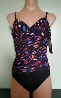 Magicsuit by Miraclesuit black underwire one piece swimsuit size 8 10 12 14 16