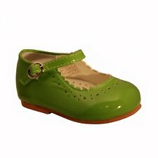 SEVVA Baby Infant Girls Patent Non Slip First Walking Shoes Spanish Style Emma 5
