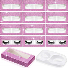 60 Pieces Empty Eyelash Case, 30 Empty Eyelash Boxes Lash Box Packaging Glitter