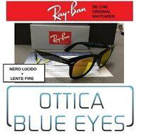 Occhiali da Sole RAYBAN ORIGINAL WAYFARER RB2140 NERO REMIX orange sunglasses