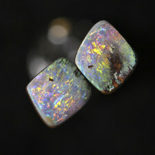Australian Boulder Opal polished pairs - BOC00181