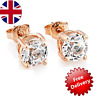 Rose Gold Round 6mm Stud Earrings with Crystals from Swarovski®