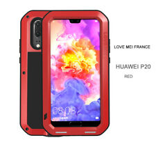 Coque antichoc et etanche HUAWEI P20 - LOVE MEI FRANCE - Rouge