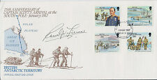 Ranulph FIENNES SIGNED Autograph FDC AFTAL COA First Day Cover Everest Explorer