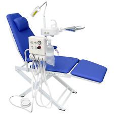 Dental Portable Chair Unit with LED Lamp + Turbine Unit 4H + Waste Basin