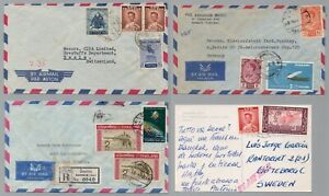 THAILAND / 4 EARLY COVERS/CARD TO EUROPE (ref 786)