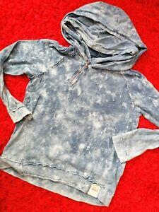 🌸 KHUJO 🌸 Sweatshirt Kapuzenpullover Pullover Hoodie 🌻 indigo blau 🍀 Gr. L