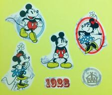 Set of iron on Mickey and Minnie Mouse fabric motifs/embellishments/patches
