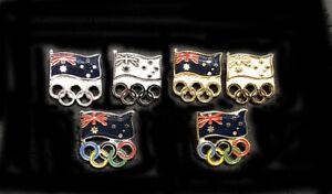 Awesome Aussie Six  AUSTRALIAN NOC Team Set Olympic pins