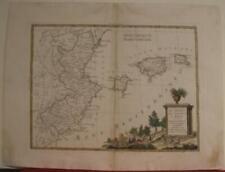 BALEARIC ISLANDS VALENCIA MURCIA SPAIN 1776 ZATTA ANTIQUE COPPER ENGRAVED MAP