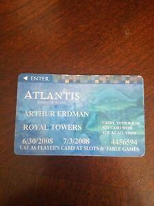 Atlantis Casino & hotel Paradise Island player card  Royal towers