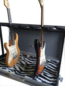 Ultrasonics Flightcases Six Way Guitar Display Rack Zebra Lined Flight Case