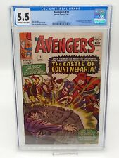 Avengers #13 CGC 5.5 Pristine Slab, Combined Shipping! 1st Count Nefaria!