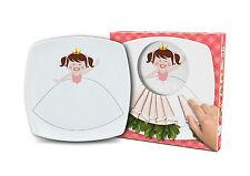 """""""PRINCESS"""" DIVERTENTE e colorato in Ceramica Piastra Quadrata Per Bambini 18 cm / 7 REGALO"""