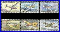 CZECHOSLOVAKIA 1967 LOCAL PLANES sc#C66-71 MNH GLIDERS, AVIATION TRANSPORT CZ-AL