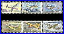 CZECHOSLOVAKIA 1967 LOCAL PLANES sc#C66-71 MNH GLIDERS, AVIATION TRANSPORT CZ-AL