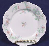 """Vintage Haviland & Co Limoges France Floral Scalloped Porcelain Plate 6.25"""""""