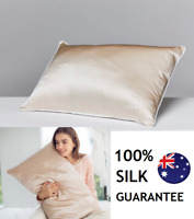 Luxury Soft 100% Mulberry Silk Pillowcase Case 25 Momme Slip Beauty  Ivory
