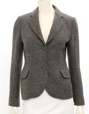 Jil Sander Grey & Multicolor Alpaca Single Button Jacket Size 36 US 2