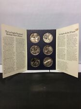 More details for los angeles 1981 bicentennial birthday dollars 6 coin set collection info folder