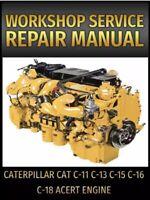 Caterpillar Cat C-11 C-13 C-15 C-16 C-18 Acert Engine Service Repair Manual